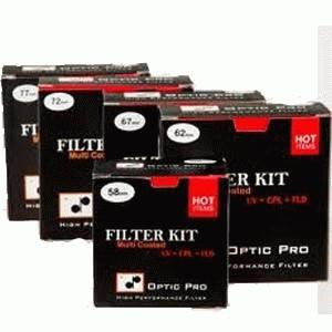 Optic Pro Filter Kit (uv+cpl+fld) mod.1 62mm