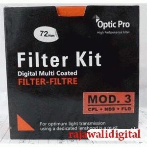 Optic Pro Filter Kit (CPL+ND8+FLD) mod.3 55mm