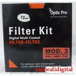 Optic Pro Filter Kit (CPL+ND8+FLD) mod.3 58mm