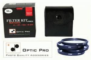 Optic Pro Filter Kit (UV+CPL+ND8+IR680nm) mod.PRO 62mm
