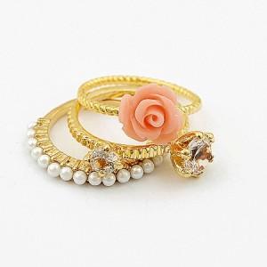 cincin 3pcs - flower