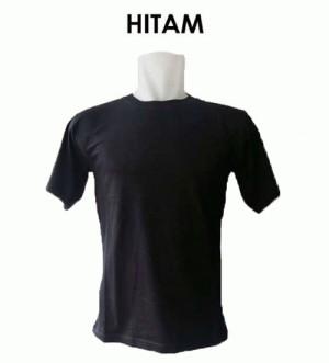 Kaos Polos Hitam ( Bahan Cotton Combed ) Size M