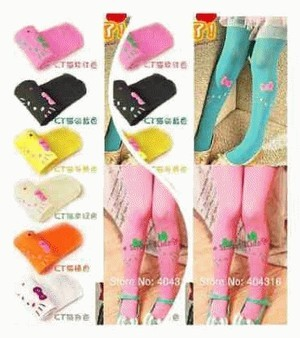Stocking/legging hello kitty colorfull