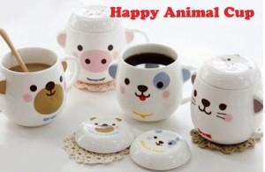 Happy Animal Cup - Barang Unik - Glass - Mug