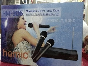 Mic / Mikropon / Microphone Double Wireless Homic Hm-306