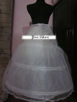 petticoat 3 ring / hoop pengembang dress
