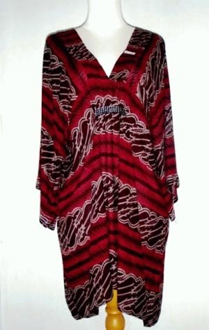 Dress Batik Paris V-neck kalong Murah