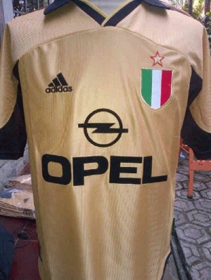 JERSEY AC Milan CENTENARY 4th GOLD