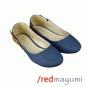 Flat shoes ankle buckle	Blue SH007-1