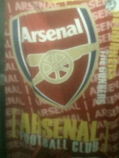Handuk mandi Motif Klub Sepakbola Arsenal Dengan Bordir Nama