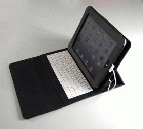IPad PU keyboard with protective leather case
