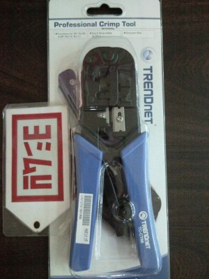 TRENDnet RJ 45/RJ 11-Crimp/Cut/Strip Tool