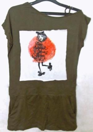 Loose/Batwing Dress Asimetris (Hijau)