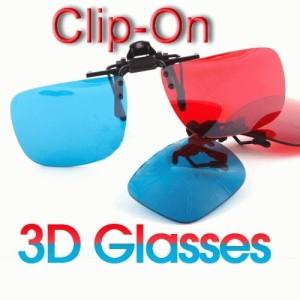 Kacamata 3D Polycarbonate Clip On Red/Cyan