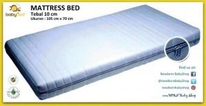 MATTRESS BED LATEX Babybee uk. 105x70x10 cm