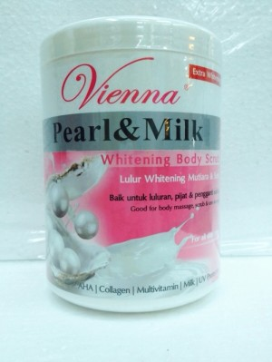 Vienna body scrub pearl and milk 1000 ml