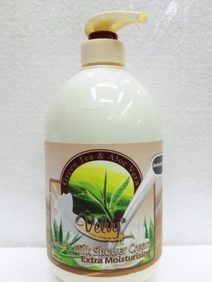 Velvy shower cream green tea and aloevera