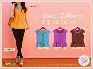 Sweet collar peplum list top