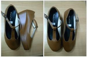 Sepatu/Platform vintage PS04 tan size 37