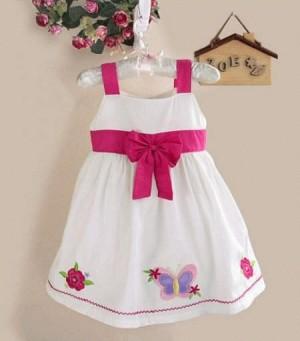 ZOE White Pink Bow Tanktop Dress