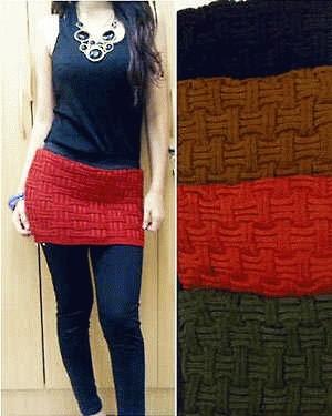 legging combi mini skirt