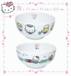 Mangkok Hello kitty Keramik Isi2