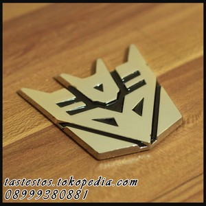 Emblem Transformers Stainless ( Pattern Decepticon )