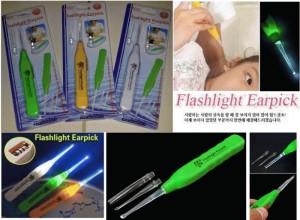 Flashlight Earpick - pembersih telinga dgn lampu