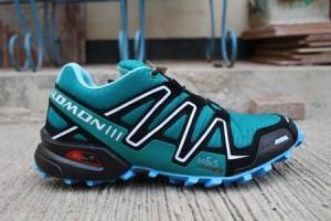 Sepatu Gunung Salomon Speed Cross 3 Green/Black Replika Import