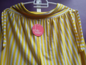 Yellow-stripe aladin pant