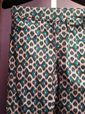 Tosca green diamonds cotton pant