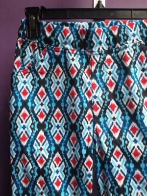 Blue-red batik cotton pant