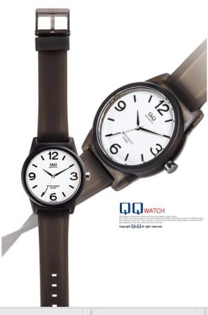 jam tangan QnQ QQ Q&Q new wave VR35 VR 35 – hitam transparan
