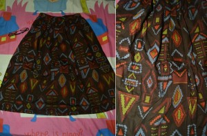 Brown tribal skirt