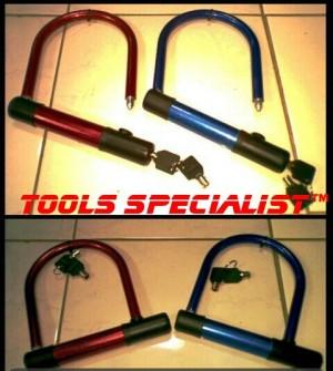 """Kunci Sepeda/Motor Besi Lengkung """"U"""""""