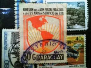 Paraguay Aereo stempel asli