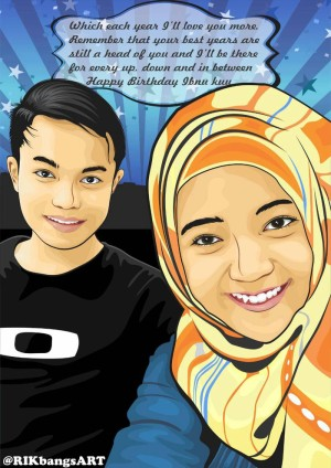 ilustrasi kartun vektor couple