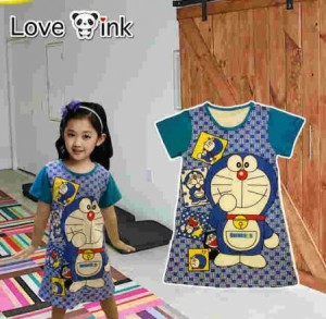 Dress Anak Doraemon Kotak