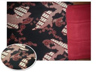 Kain Batik Semi Sutera + Furing Merah 200cm x 120cm