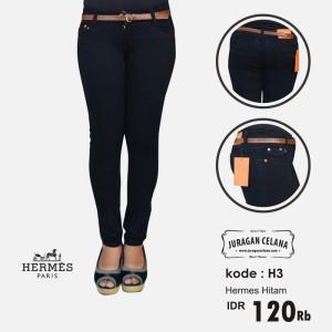 Celana Jeans Hermes Wanita (Hitam)