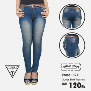 Celana Jeans Guess Wanita (Biru Washed)