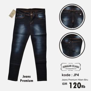 Celana Jeans Premium Wanita (Hitam Biru)