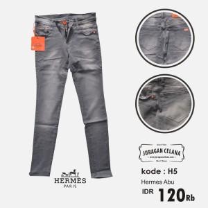 Celana Jeans Hermes Wanita (Abu-abu)