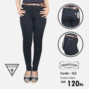 Celana Jeans Guess Wanita (Hitam)
