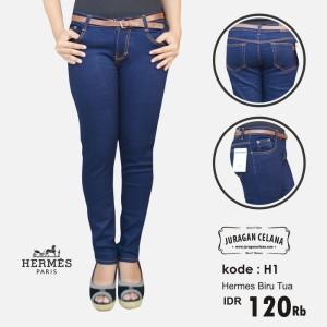 Celana Jeans Hermes Wanita (Biru Tua)