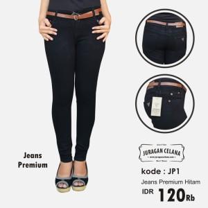 Celana Jeans Premium Wanita (Hitam)