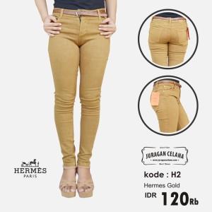 Celana Jeans Hermes Wanita (Gold)