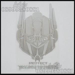 Sticker Alumunium Transformers ( Pattern Optimus Prime )