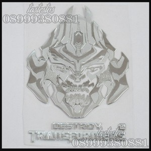Sticker Alumunium Transformers ( Pattern Megatron )