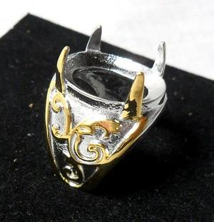 Cincin Titanium Asli Untuk Batu Akik/Permata - TG - 02